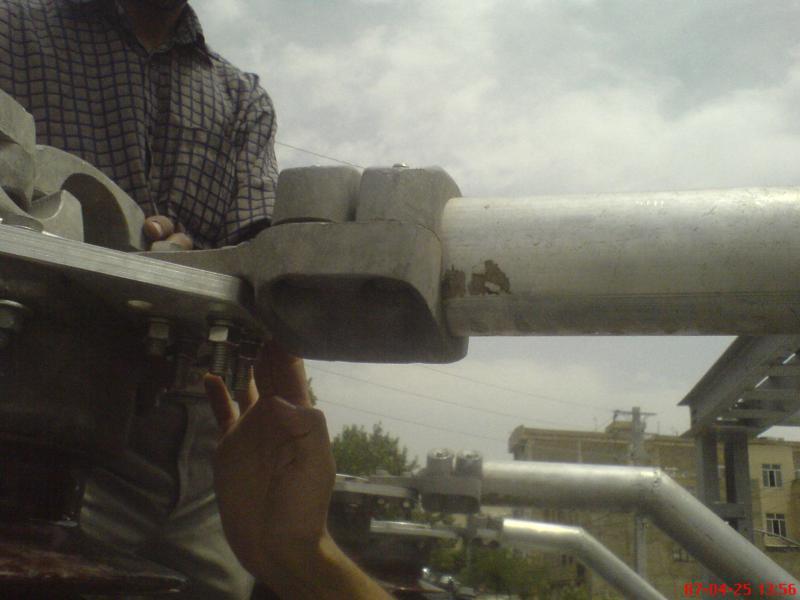 کلمپ پست برق نصب شده ی شرکت نوین انتقال ایرانیان (مهنا) 23