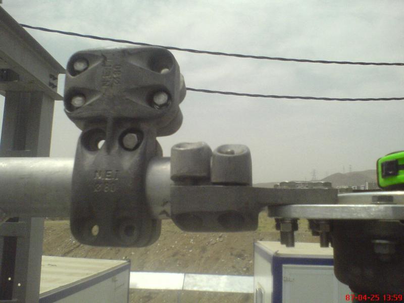 کلمپ پست برق نصب شده ی شرکت نوین انتقال ایرانیان (مهنا) 24