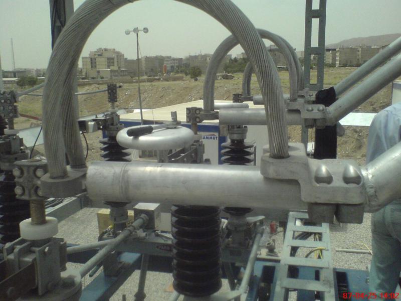 کلمپ پست برق نصب شده ی شرکت نوین انتقال ایرانیان (مهنا) 21