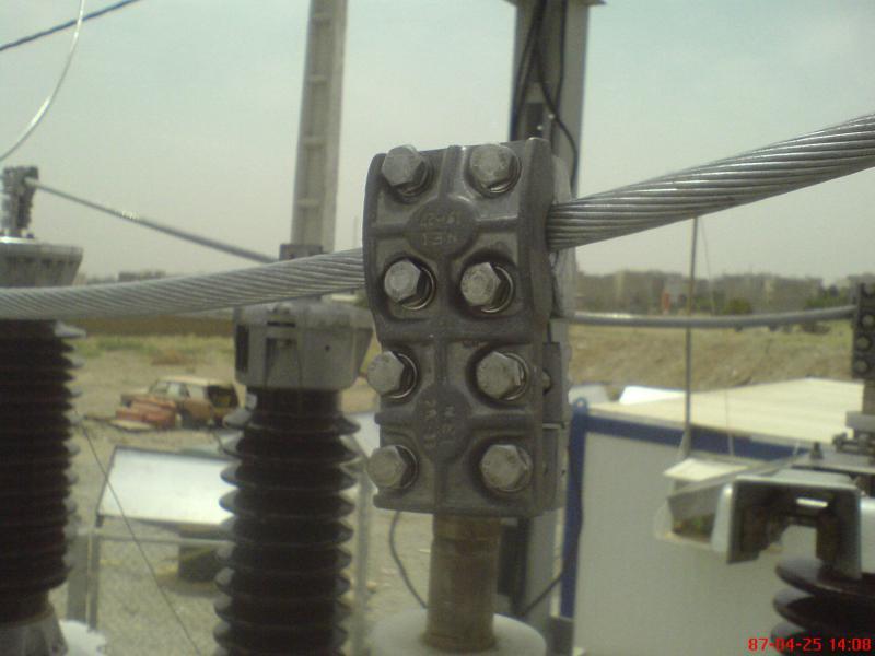 کلمپ پست برق نصب شده ی شرکت نوین انتقال ایرانیان (مهنا) 19