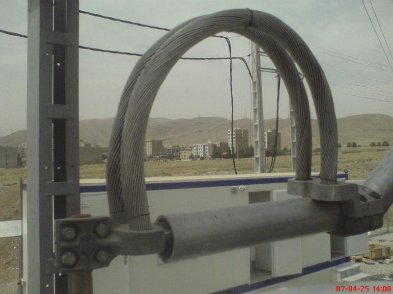 کلمپ پست برق نصب شده ی شرکت نوین انتقال ایرانیان (مهنا) 20
