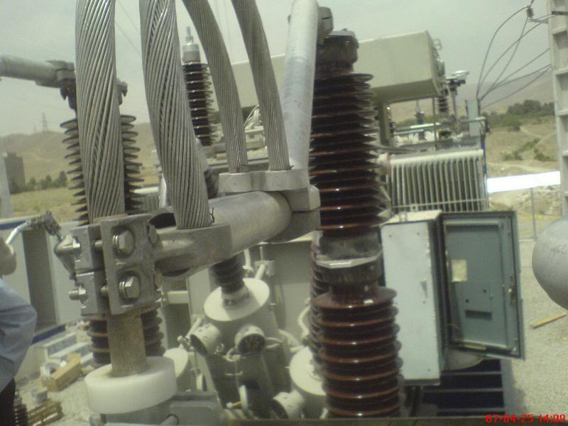 کلمپ پست برق نصب شده ی شرکت نوین انتقال ایرانیان (مهنا) 16
