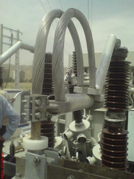 کلمپ پست برق نصب شده ی شرکت نوین انتقال ایرانیان (مهنا) 14