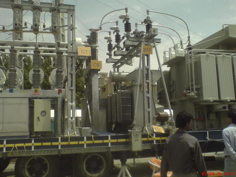 کلمپ پست برق نصب شده ی شرکت نوین انتقال ایرانیان (مهنا) 13