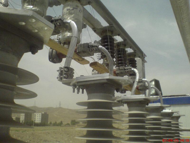 کلمپ پست برق نصب شده ی شرکت نوین انتقال ایرانیان (مهنا) 9