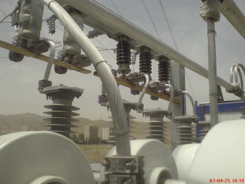 کلمپ پست برق نصب شده ی شرکت نوین انتقال ایرانیان (مهنا) 6
