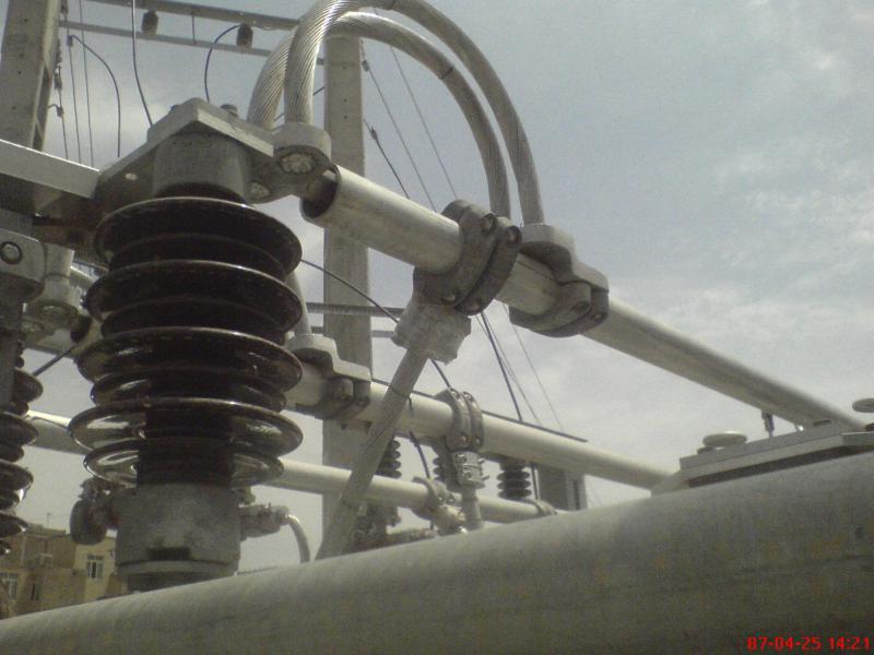 کلمپ پست برق نصب شده ی شرکت نوین انتقال ایرانیان (مهنا) 3