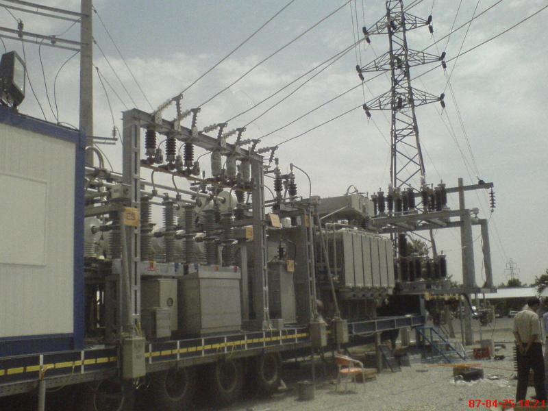 کلمپ پست برق نصب شده شرکت نوین انتقال ایرانیان 2
