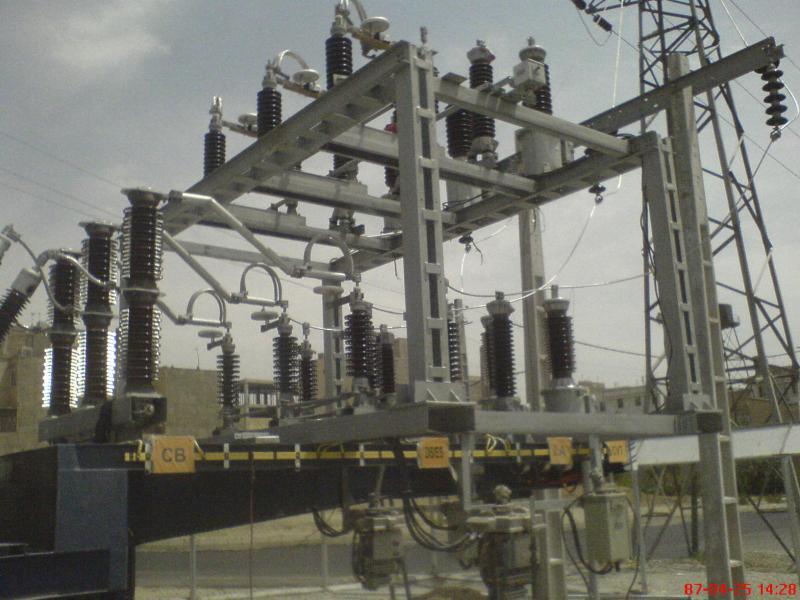 کلمپ پست برق نصب شده شرکت نوین انتقال ایرانیان 1